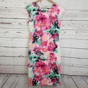 Vince Camuto | Floral Print Scuba Sheath Dress